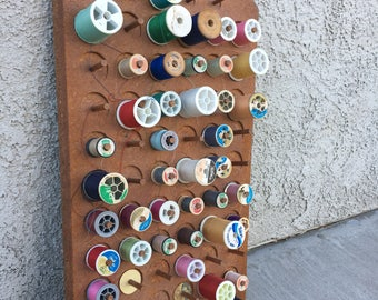 vintage thread spool holder wall mount