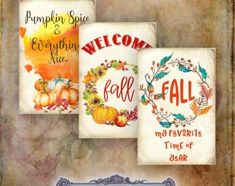 8 Thanksgiving/Autumn Tags
