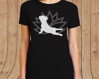 French Bulldog Yoga Shirt - funny dog shirt women t shirts