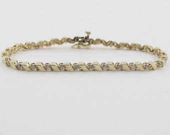 Diamond Tennis Bracelet 14k Yellow Gold 6 3/4 Inches 0.50 carat