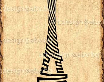 Vector EIFFEL TOWER, la tour eiffel, AI, png, eps, pdf, svg, dxf, jpg Download, World Attractions, coupons
