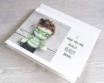 Super Hero Encouragement Card - My Hero - So Very Brave - Cancer Survivor - Divorce support - Get Well