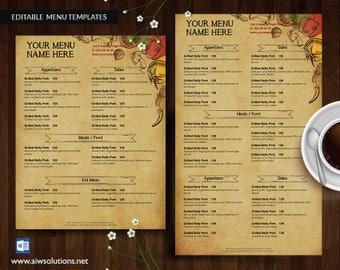 Vintage Menus, American Menu, Asian Menus, Bakery Menu, Barbeque Menus, Breakfast Menus, Burger Menus, Cafe Menus