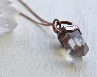Polished Quartz in Copper - necklace