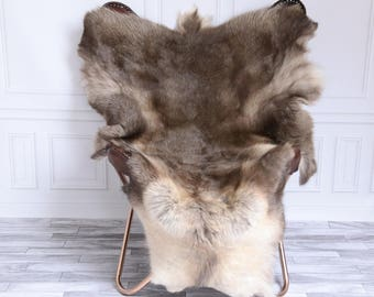 Reindeer Hide | Reindeer Rug | Reindeer Skin | Throw XL Large - Scandinavian Style #15RE12