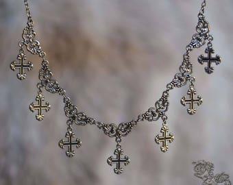"Necklace "" Borgia "" - Medieval  gothic , renaissance , fantasy"