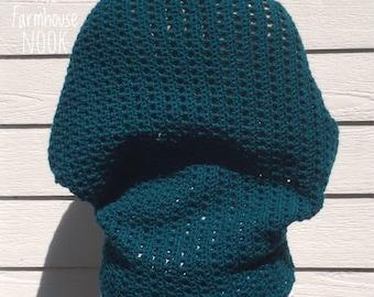 Crochet Shrug, Blanket Sweater, Cocoon Shrug, Crochet Cardigan