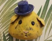 Berty Trophy Head- ceramic hamster wall mounted head