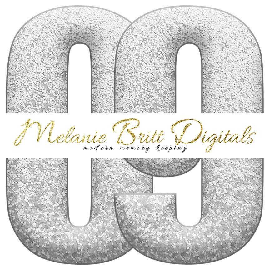 silver glitter alphabet digital alphabet clipart glitter