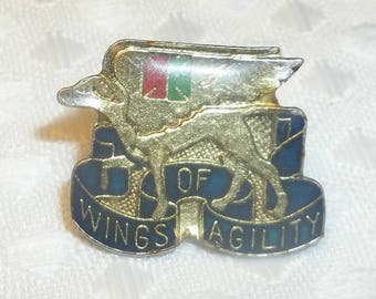 Wings Of Agility Enamel Pin for Trucker Cap, Lapel Pin, Snapback Cap Pin, Outlaw Country,  US Army 130th Aviation Battalion DUI Unit Crest