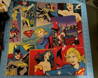 Batgirl/wonder woman/Supergirl(licensed fabric)throw pillow 16x16