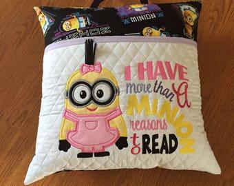 Reading Pillow Minion