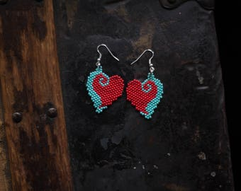 READY TO SHIP | Handmade Heart Earrings
