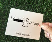 Funny Relationship Card - Funny Anniversary Card - Funny I love you card - Funny Long Distance Relationship Card - Funny Valentine Card