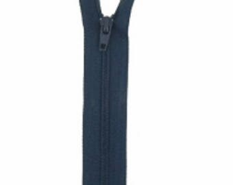 not separable zipper mesh Navy Blue nylon 20cm
