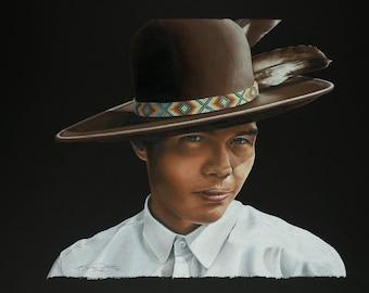 "Canvas Print of ""Our Creator's Messenger"" by Oklahoma Cherokee Artist Bryan Waytula"