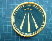 Awen Patch Embroidered Sew on Patch Patches Fabric Badge Druid Awen Welsh Awen Cornish Awen