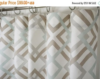 SALE Curtains Drapery Panels Window Treatment Window Curtains Winston Sage  Taupey Grey Modern Curtains, You
