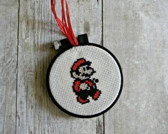 Mario Cross Stitch Ornament