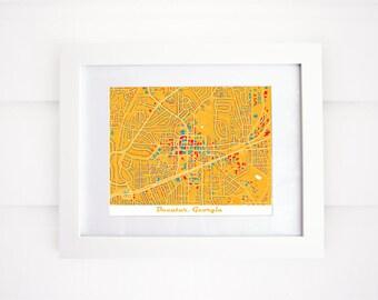 Decatur Map, GA Map Print, More Colors!