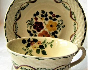 "Adams Titian Ware ""Blossom Time"" Tea Cup and Saucer"