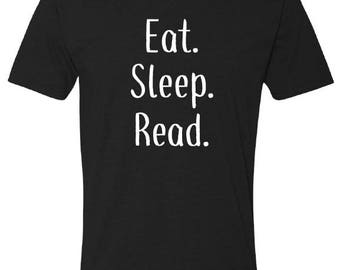 Eat. Sleep. Read. T-shirt