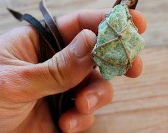 Raw Amazonite Gemstone Necklace