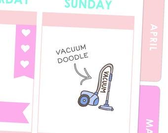 Vacuum Doodle Stickers / Planner Stickers