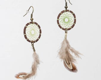Earrings dreamcatchers