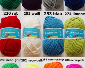 150g wool hatnut cool (5,00Euro/100g), many colours, super thick and soft