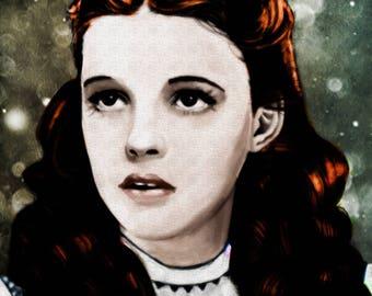 Original Art Print, Wizard of Oz, Wicked Witch, Yellow Brick Road, Emerald City, Cowardly Lion, Scarecrow, Tin Man, Judy Garland - Dorothy