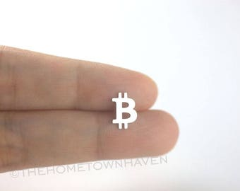 Bitcoin Earrings, HODL, Cryptocurrency, Bitcoin stud earrings, Bitcoin, Ethereum, Litecoin