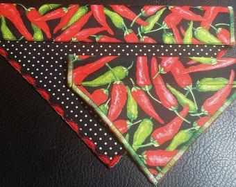 PET BANDANAS-Hot Peppers n' Polka-Dot