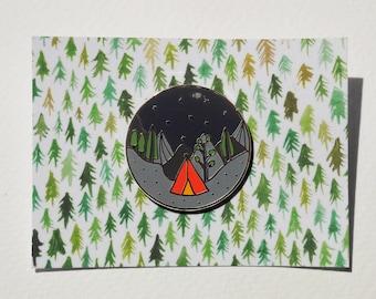 Adventure Camping Enamel Pin