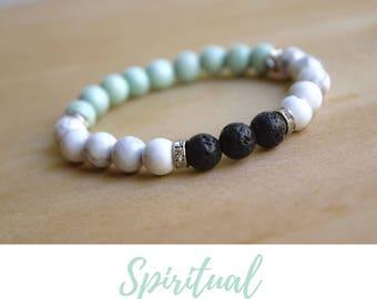 White Howlite Bracelet /calming bracelets,spiritual mom gift,anxiety relief gift,spiritual woman gift,spirituality tool,new age spirituality