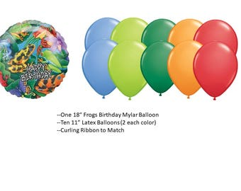 Frogs Balloons Set