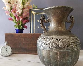 Silver urn Etsy