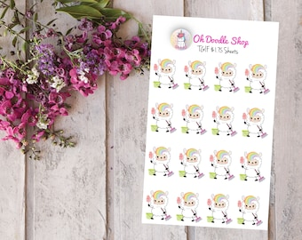 Llama Clean Planner Stickers | Clean Day stickers | 2 Dollar Tuesday