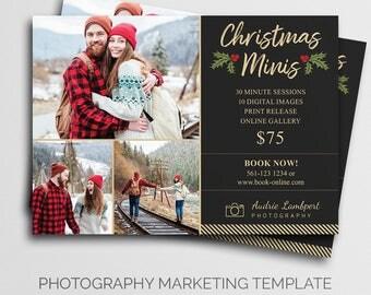 Holiday Mini Session Template | Photography Marketing Board | Winter Mini Session | Christmas Mini Session | Marketing Template