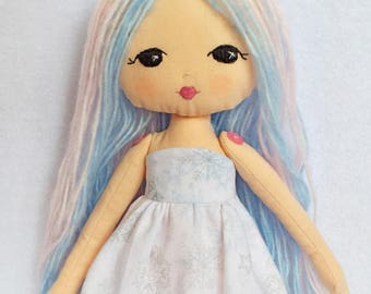 Gingermelon Sparkle Starling Doll. Heirloom handmade unique doll.