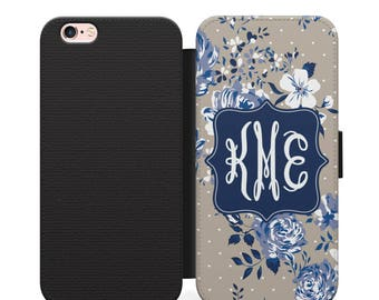 Personalized Wallet Phone Case, Personalized Phone Case, iPhone Wallet Case, Monogram Phone, Wallet Case, Floral Phone Case, Floral iPhone