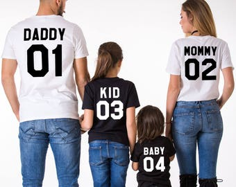 Mommy Daddy Baby 01 Father Mother Daughter Son T-shirt Set,  Mommy Daddy shirts, Mommy Daddy Baby shirts, UNISEX