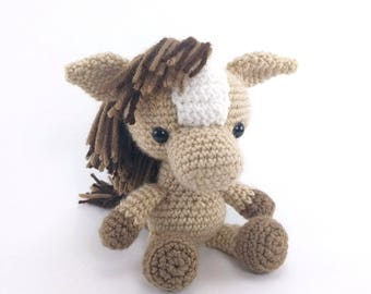 PATTERN: Henry the Horse - Crochet horse pattern - amigurumi horse pattern - farm animal - crochet pony pattern - PDF crochet pattern