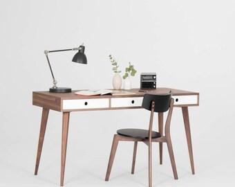 Walnut desk, dressing table, bureau, mid century modern