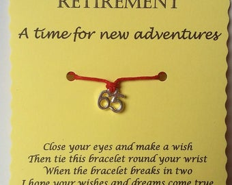 Retirement Gift, Happy Retirement Wish Bracelet, Co-worker Gift, Employee Gift, Colleague Gift, Leaving Gift, Gift for Co-worker