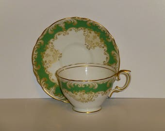 Crown Staffordshire Vintage Cup and Saucer
