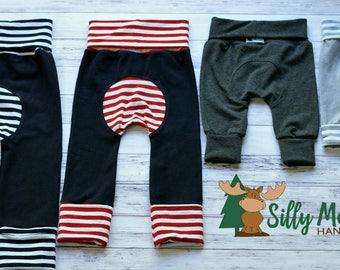 CUSTOM Maxaloones - SOLIDS or STRIPES - Girl Maxaloones - Boy Maxaloones - Grow With Me Pants - Cloth Diaper Pants - You Pick Size & Color
