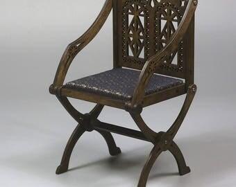 BJD Glastonbury Chair type Foldable Doll Armchair 1/3