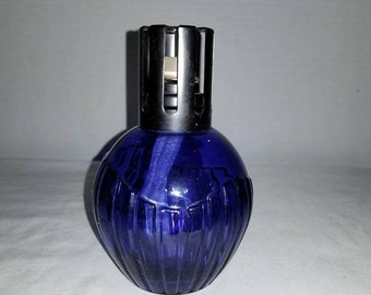 Vintage Blue Lamp Berger,Paris,Blue Glass,Blue Glass Lamp Berger,Retired Lamp Berger,French Fragrance Lamp,Aroma Diffuser,1970s