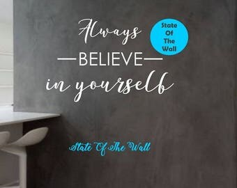 Believe Wall Decal Etsy